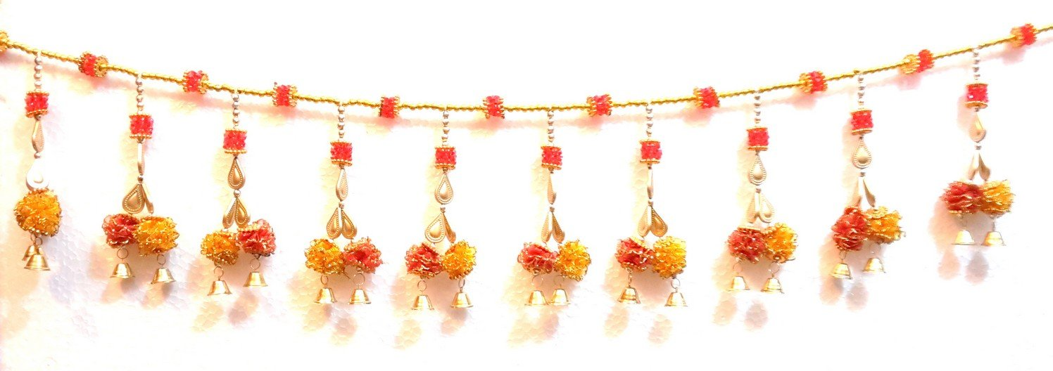 00cbac8e7 Buy Ratna Door Decoration Toran Flower Crystal Beads Bandhanwar Online at  Low Prices in India - Amazon.in