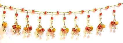 c6f855f9ec2 Ratna Door Decoration Toran Flower Crystal Beads Bandhanwar