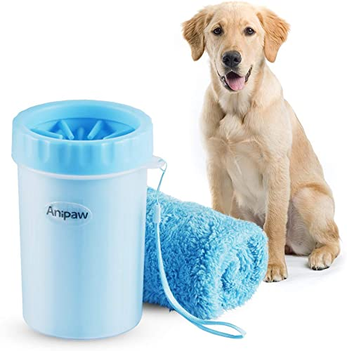 Dog-Paw-Cleaner,-Anipaw-2-in-1-Silicone-Dog-Paw-Washer-Cup-with-Towel