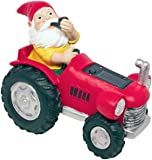 "Gnome On The Go - ""Tractor"" Solar Light"