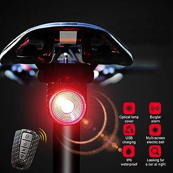 Luz Trasera Bicicleta Potente Roja/Azul Recargable USB - Luces ...