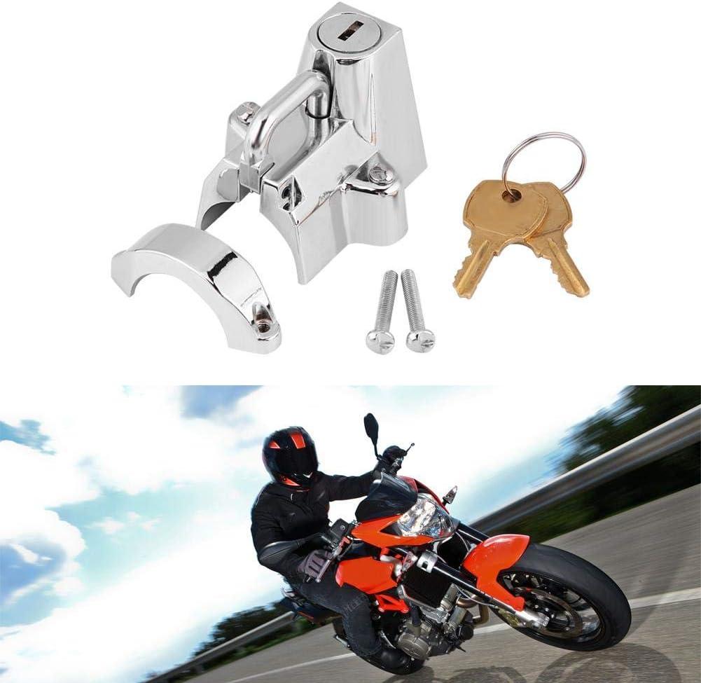 Candado universal para casco de motocicleta Cruiser Candado resistente para motocicleta con antirrobo 1-1//4 a 1-1//2 4232 Color de la galjanoplastia