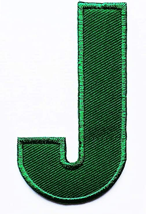 Green Embroidered Letters  Applique Patch design  Name Letters Patch for T-Shirt or Coat or jeans  iron on Patches
