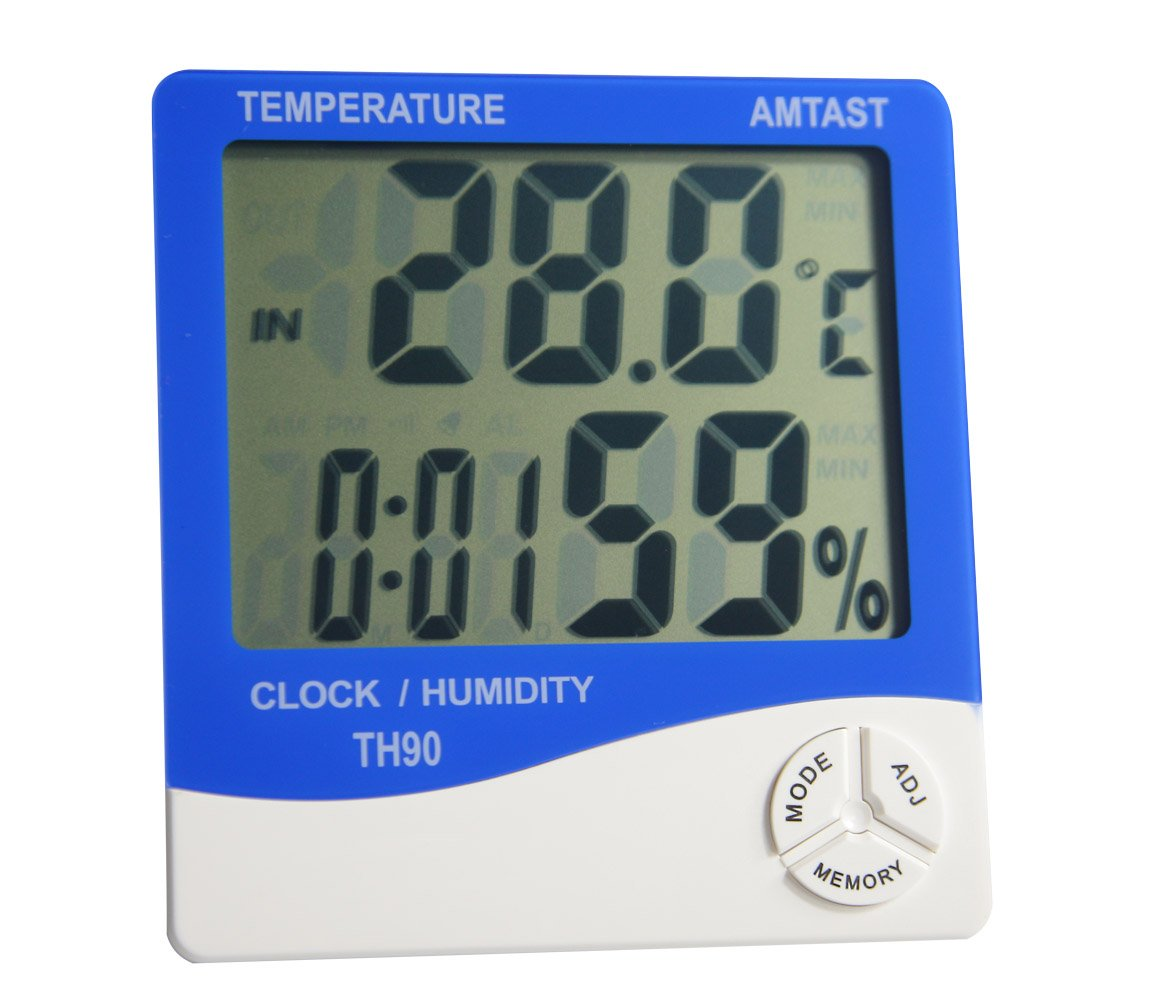 AMTAST Digital LCD Display Thermometer and Hygrometer Gauge, Humidity Meter Temperature Monitor, Light Weight, Portable