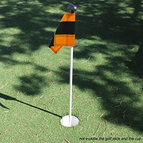 KONDAY Golf Flag,Practice Green Golf Flags, Solid Nylon and Checkered Traning Golf Putting Green Flags, Indoor Outdoor Backyard Garden Portable Golf Target flags by KONDAY (Image #6)