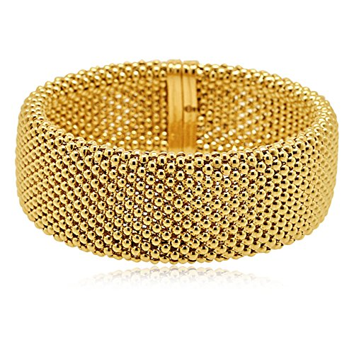 14K Yellow Gold Mesh Link Bracelet (Yellow Gold Bracelet 14k Mesh)