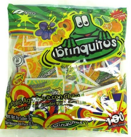 Brinquitos Original Sweet n'Sour Powder with Chili 100 Pieces Sealed