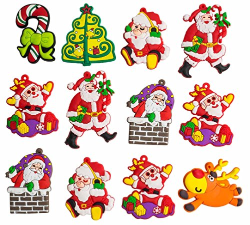 A2S Christmas Characters - Decorative Silicone Magnet Christmas Figurines shutterproof 12 pieces set Assorted (Radiator Cover Table compare prices)