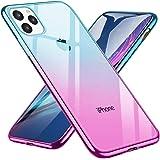 iPhone 11 Pro Max ケース 6.5インチ 透明 ソフト グラデーション TPU 軽量 薄型 全面保護 防指紋 背面クリア Qi充電対応 耐衝撃カバー 高級感 おしゃれ(绿の粉)
