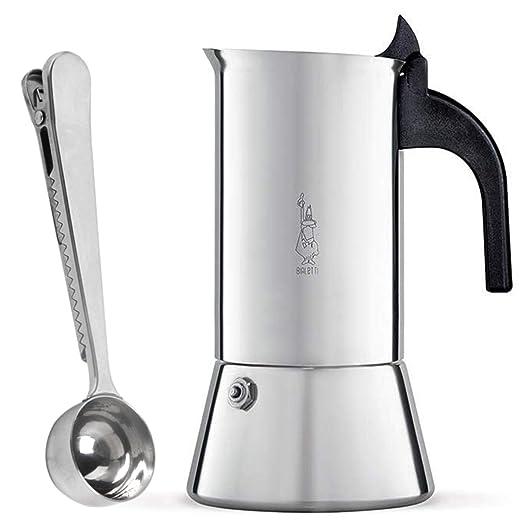 Bialetti Venus Cafetera Italiana Espresso para 2 Tazas | Acero Inoxidable y Cuchara para Café por SmartProduct