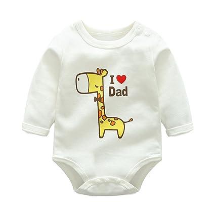 Bebé Mameluco Niños Niñas - Bebé Pijamas Unisex Peleles Algodón Mameluco Monos Bebé Body Mangas Largas