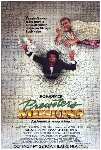 Brewster's Millions POSTER Movie (27 x 40 Inches - 69cm x 102cm) (1985)