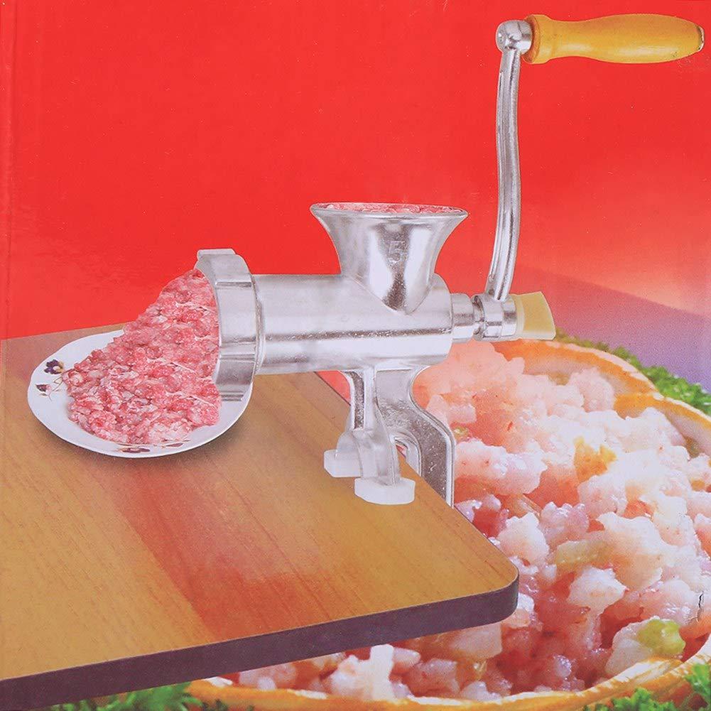 Hand Fleischwolf Fleischwolf, Aluminiumlegierung Hand Bedienen Manuelle Fleischwolf Wurst Fleischwolf Tisch K/üche Hause Werkzeug