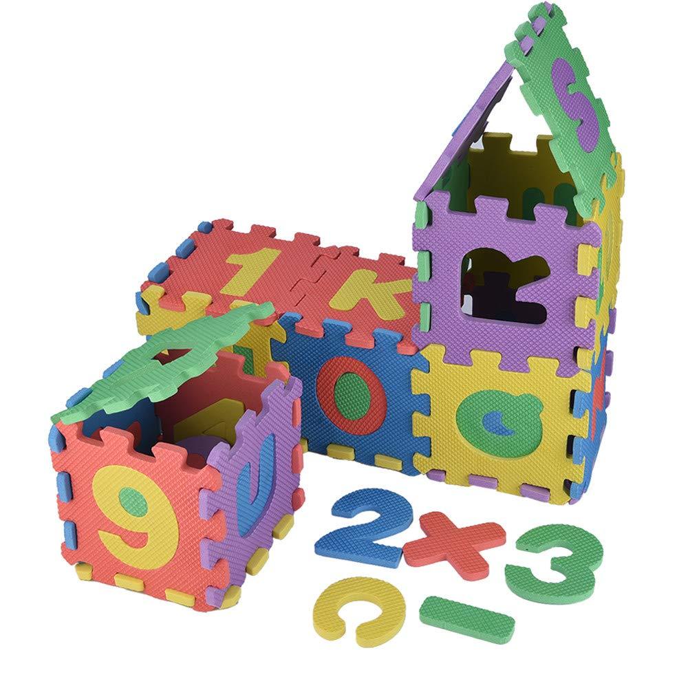 Fullfun 36Pcs 12 x 12cm Baby Child Digital Alphabet Puzzle Bubble Math Education Toy Gift