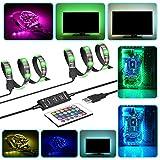 BMOUO USB LED Strip Light - 2M 60LEDs RGB USB LED Strip TV Back Lighting w/24-key IR Remote for HDTV PC Car Bike Desktop etc.