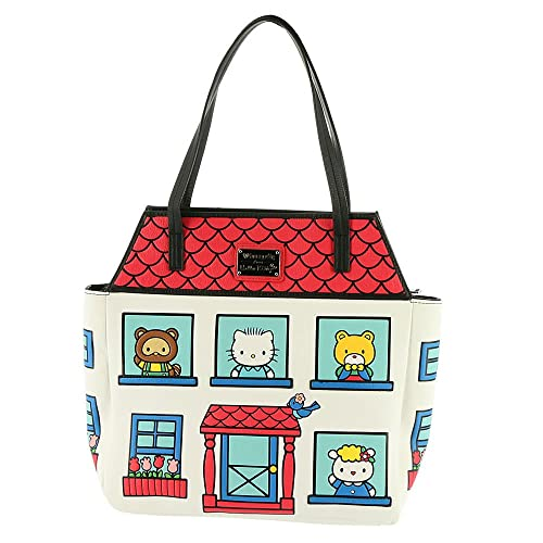 43a727114 Amazon.com: Loungefly Sanrio Hello Kitty House Tote Bag ...