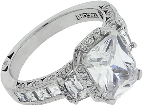 Tacori Ht2535 Diamond Engagement Ring In 18k Fits 3 Carat Emerald Cut Amazon Ca Jewelry