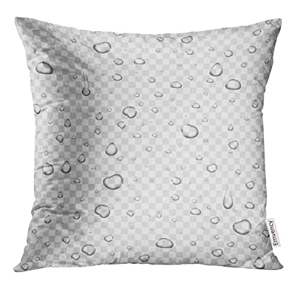 Amazon Com Upoos Throw Pillow Cover Blue Droplet Realistic