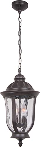 Craftmade Z6011-OBO Frances Outdoor Ceiling Pendant Lighting, 2-Light, 120 Watts, Oiled Bronze 10 W x 18 H