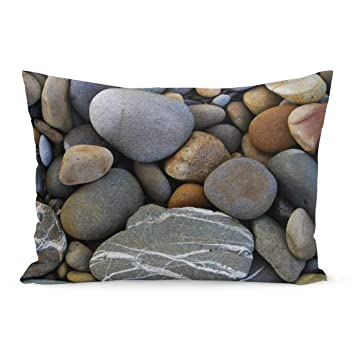 A set Patterned pebble stone pillow//pillow cases rock cushion//cushion covers