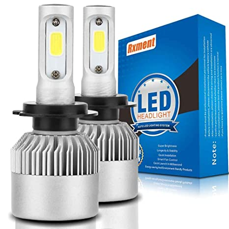 H7 LED Faro Bombillas - 8000Lm 6000K 80W 9~32V Bombilla de luz LED H7 para faros de coche - Luz blanca All-in-One Kit de conversión (2 PCS): Amazon.es: ...