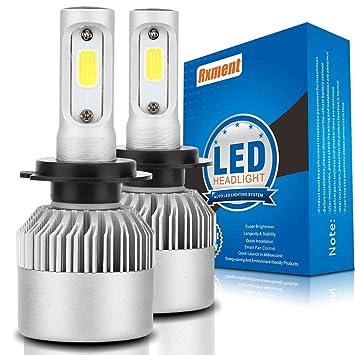 H7 LED Faro Bombillas - 8000Lm 6000K 80W 9~32V Bombilla de luz LED H7