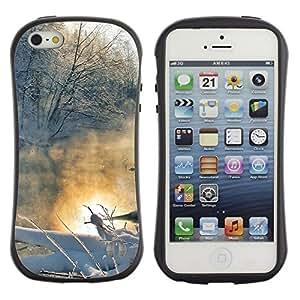 """Hypernova Slim Fit Dual Barniz Protector Caso Case Funda Para Apple iPhone SE / iPhone 5 / iPhone 5S [Paisaje de invierno""""]"""