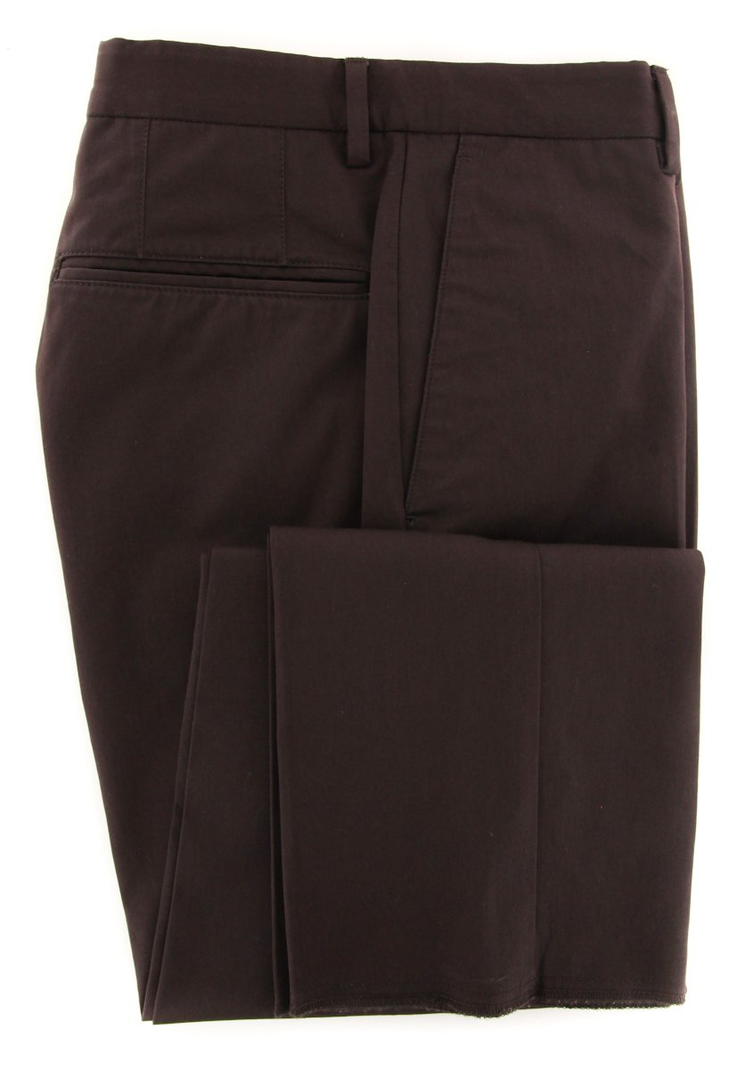 Incotex Caramel Brown Solid Pants - Slim - 40/56