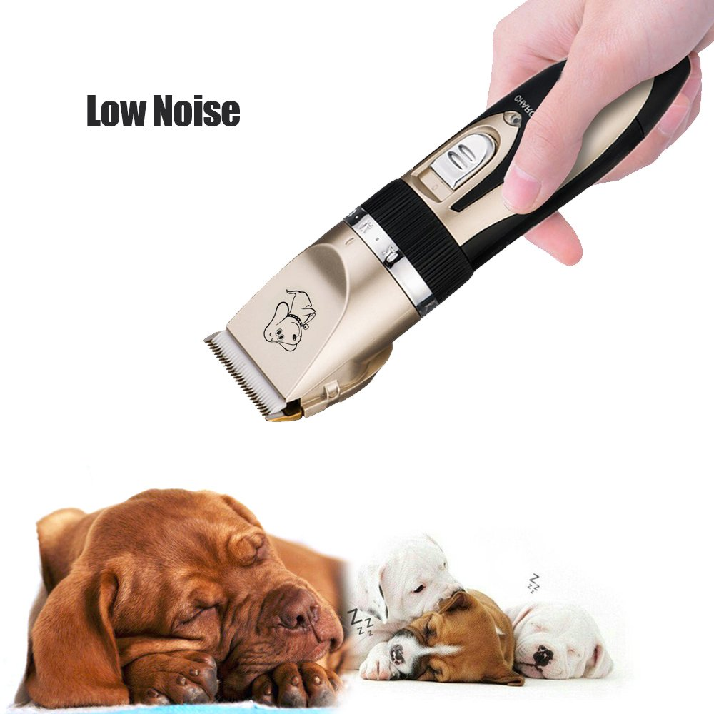 Pet Grooming Clipper Kits Low noise Dog and Cat Rechargeable Cordless Electric Clipper Animal Haircut Machine by YUHEN (Image #5)