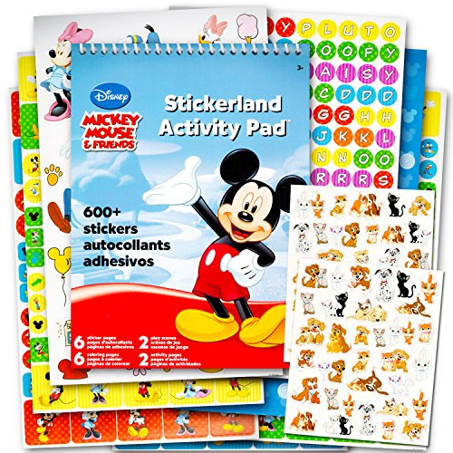 Disney Mickey Mouse and Minnie Mouse Stickers Party Favor Pack (624 Stickers Featuring Mickey Mouse, Minnie Mouse, Donald Duck, Daisy Duck, Goofy and More!)