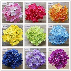 Lily Garden Silk Hydrangea Heads Artificial Flowers (12, Blue) 3