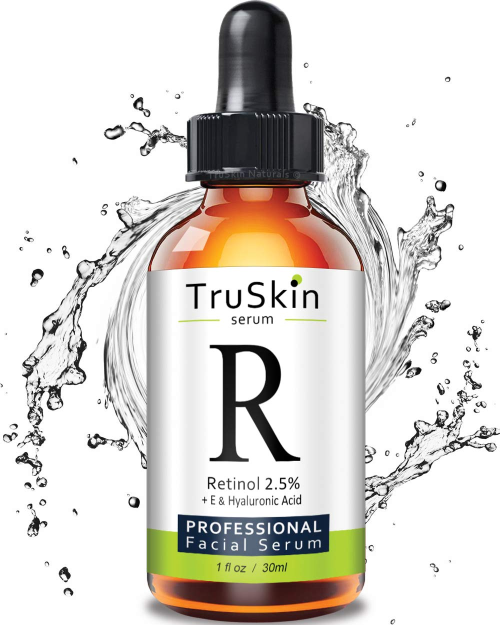 TruSkin RETINOL Serum for Wrinkles, Fine Lines, contains Vitamin A, E and Hyaluronic Acid, Organic Green Tea, Jojoba Oil, BEST Anti Wrinkle Facial Serum,1oz by TruSkin Naturals