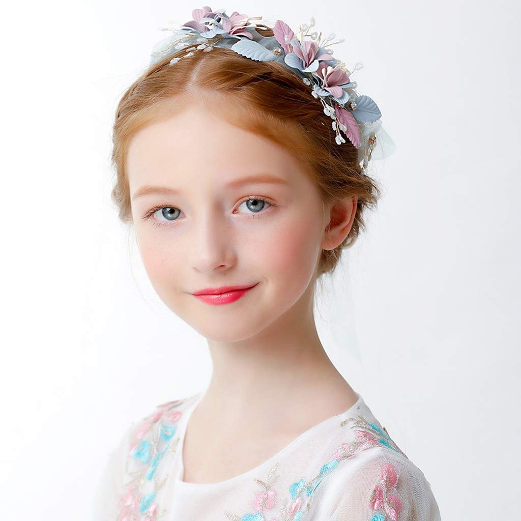 Wreath Flower Girl Headdress Princess Crown Small Headband Children Hair Accessories Show Dress Accessories