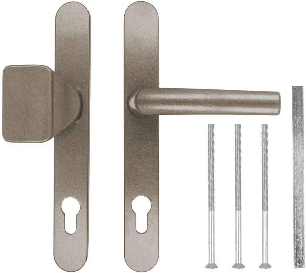 Farbe:Grau RAL 7016 Griffart:Griff-Griff Schildbreite 32mm Premium Dr/ückergarnitur DHS 92mm