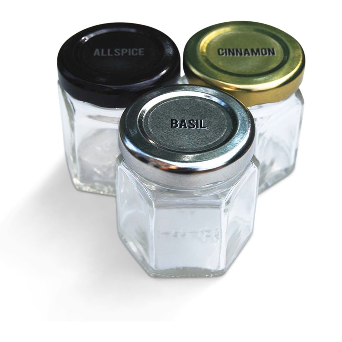 Gneiss spice small empty magnetic spice jars create a diy hanging spice rack on your fridge includes hexagon glass jars magnetic lids spice labels