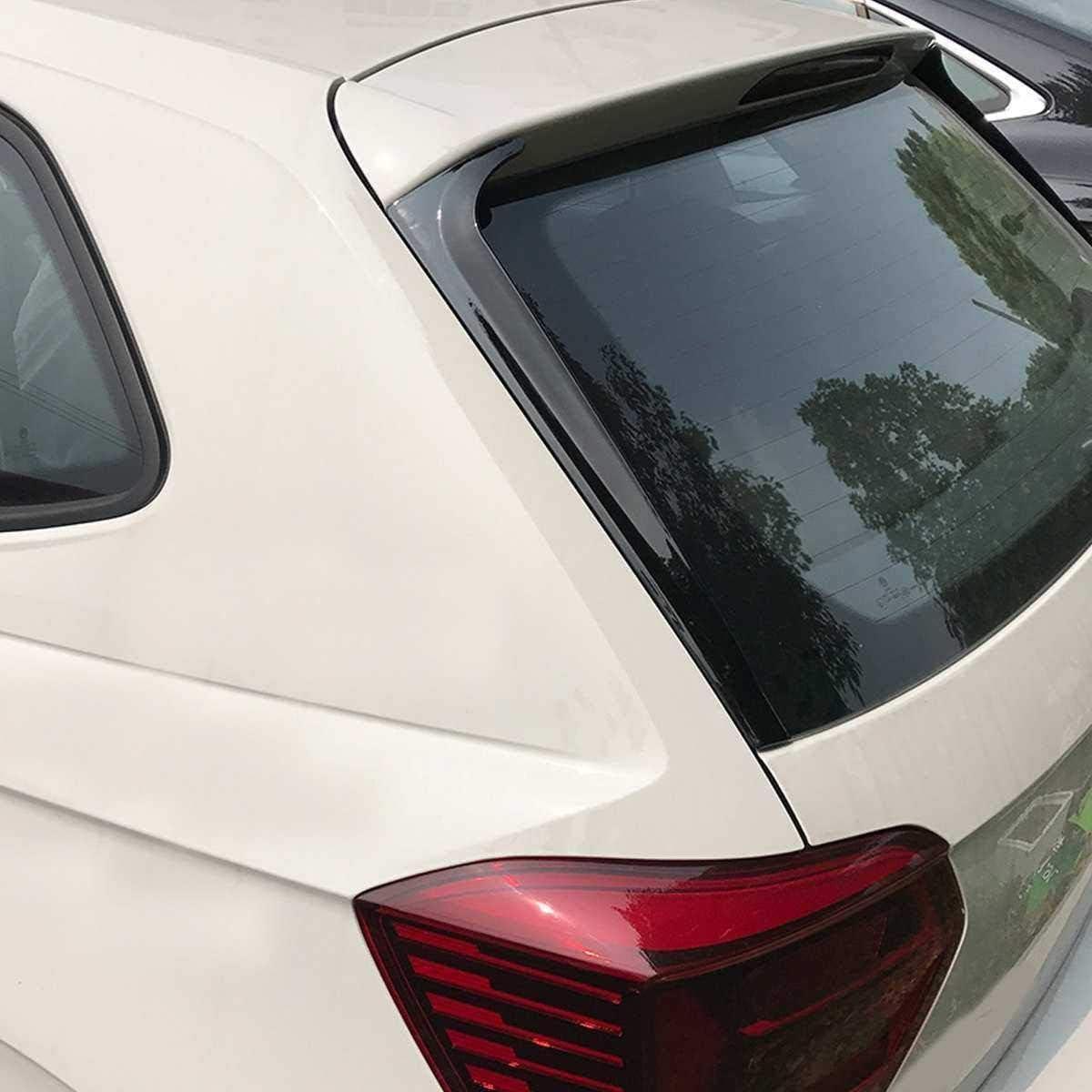 Nicht f/ür GTI R ZQTG Passend f/ür VW Polo Plus-MK6 2018 1 Paar Gloss Black Rear Window Seitenspoiler flankieren