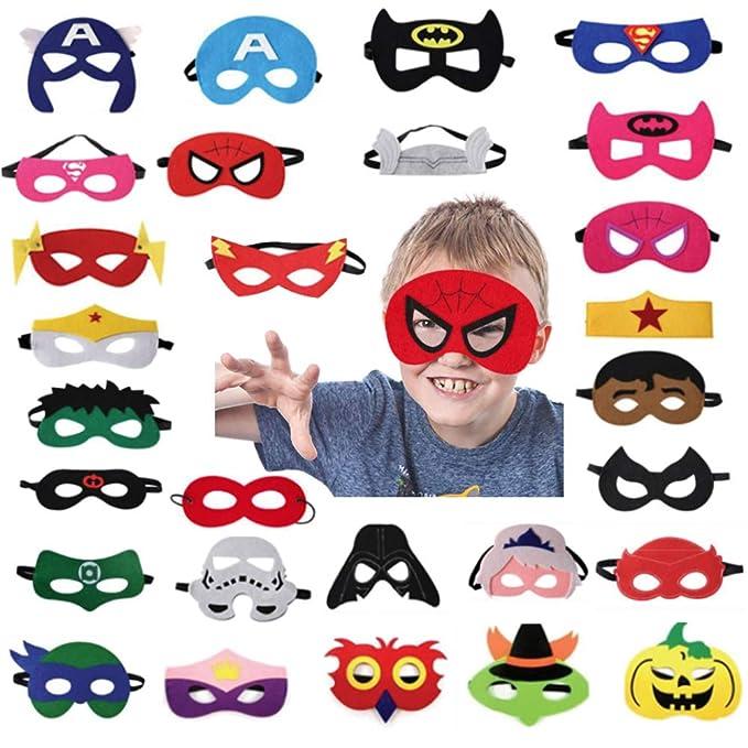Amazon.com: BigOtters - 35 máscaras de fieltro de superhéroe ...