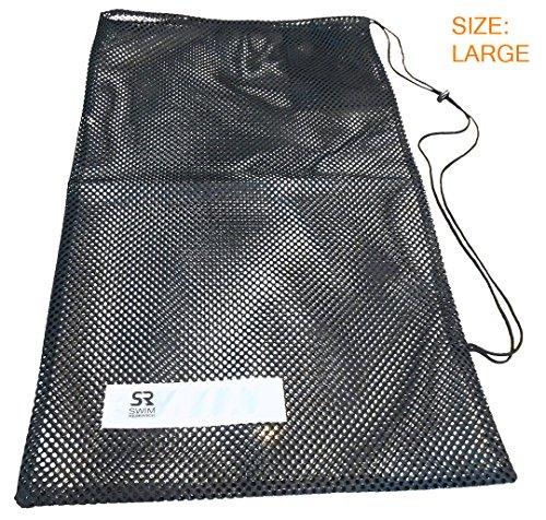 Swim Research Black Mesh Equipment Bag with Adjustable Closure (Large)
