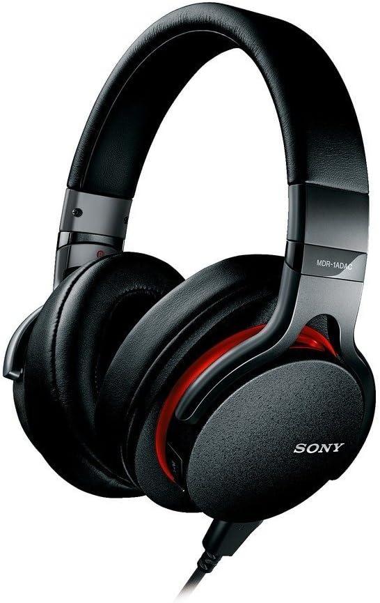 Sony MDR-1ADAC Premium Hi-Res Stereo Built-in DAC Headphones Black Red