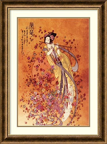 Framed Wall Art Print Goddess of Prosperity by Chinese 23.88 x 31.88
