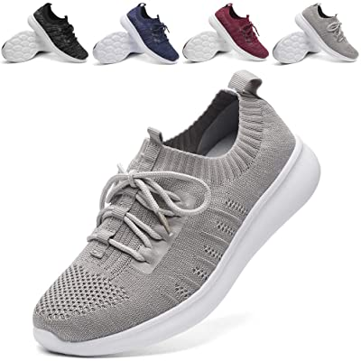 DADAWEN Women's Athletic Walking Shoes Lightweight Casual Breathable Sneakers Tennis Shoe (Size:US5-US12)   Tennis & Racquet Sports