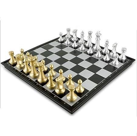 CCDZ Schachspiel Magnetisch Einklappbar Schachbrett Pädagogisches Spielzeug Für Kinder Ab 6 Schach Spiele Für Erwachsene 36X3