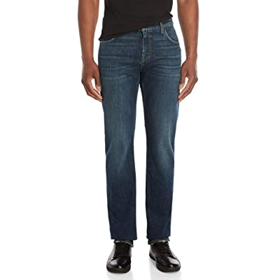 7 For All Mankind Men's Slim Straight Leg Denim Jeans (Enterprise, 29): Clothing