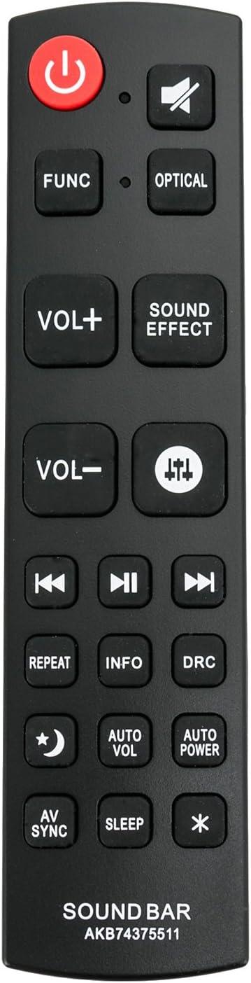 AKB74375511 Replacement Soundbar Remote Control Applicable for LG Sound Bar LAS751M LAS750M LAS855M LAS950M