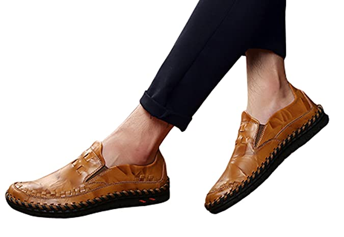 Amazon.com | WSKEISP Mens Moccasins Non-Slip Shoes Midway Oxford Causal Leather Shoes | Oxfords