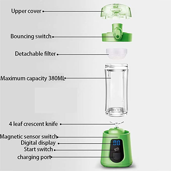 Blender Multifuncional, Mini Botella portátil de la ...
