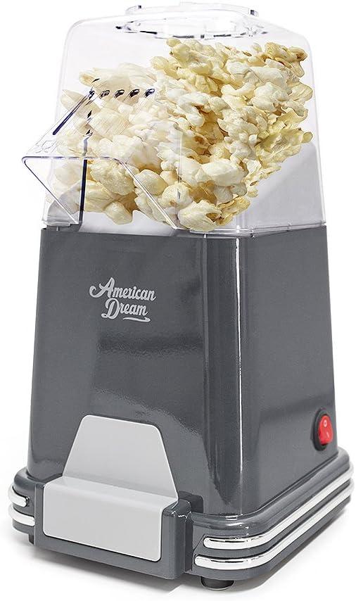 Balvi Máquina Palomitas American Dream Color Gris Palomitero de cocción por Aire Caliente, sin Grasas o aceites Plástico: Amazon.es: Hogar