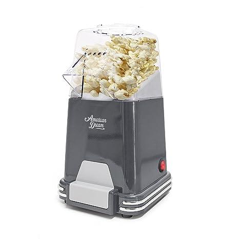 Balvi Máquina Palomitas American Dream Color Gris Palomitero de cocción por Aire Caliente, sin Grasas