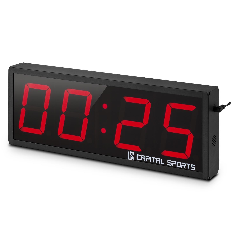Capital Sports Timeter Temporizador Tabata Cronómetro Cross-Training (6 dígitos, Señal sonora, mando distancia, ideal entrenamiento circuito, rondas, ...