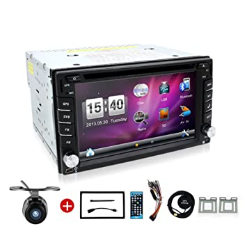61xFE7OGKOL._SY355_ bosion 6 2 inch double din car stereo in dash gps navigation for  at edmiracle.co